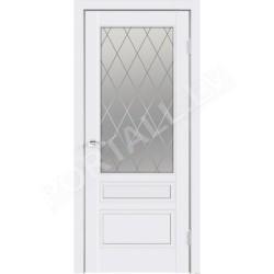 Emaljētas durvis  SCANDI  3P ar stiklu