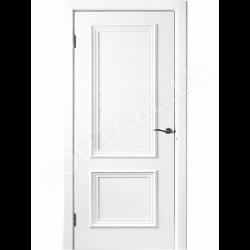 Finierētas durvis BERGAMO-4  Balta Emalija