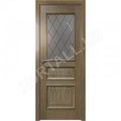Durvis VALENCIA 02 DOF Ozola krāsa ar stiklu