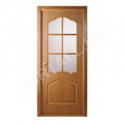 Durvis ar kārbu un stiklu KAROLINA DGF Ozols