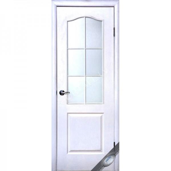Durvis ar kārbu Simpli B DO Gruntētas ar stiklu