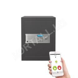 Dokumentu mēbeļu profesionāls, sertificēts seifs YALE, ar elektronisku slēdzeni.(augstums: 40cm, platums 35cm). Ar atvēršanas paziņojumiem