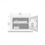 Mēbeļu seifs YALE SMART (augstums 25cm, platums 35cm).Ar atvēršanas paziņojumiem