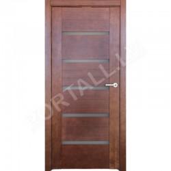 Durvis ar karbuVILA 14 krāsa Rieksts (stiklotā vērtne)